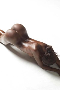 Simone shows off her oiled delicious body