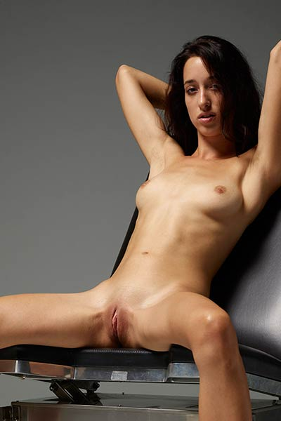 All naked all natural brunette doll teases naked in many different poses