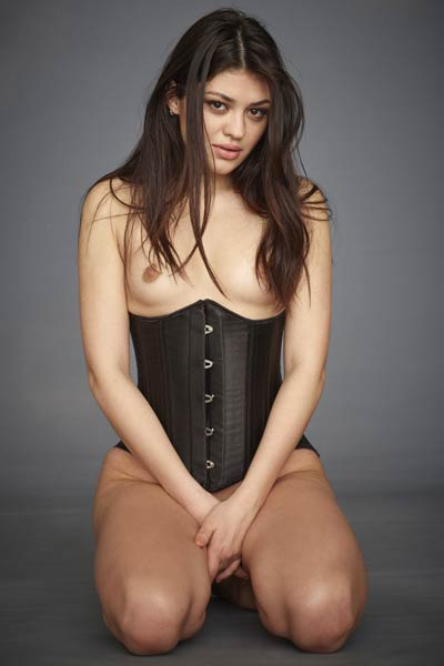 Brunette doll Lidia looks so fabulous as se poses wearing sexy corset