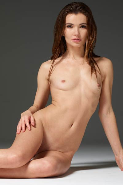 Veronika V is not feeling shy to show off her sexy naked attributes
