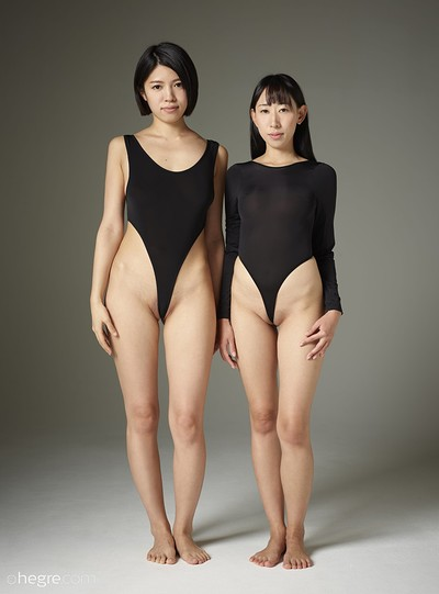 Sayoko and Yun in Japanese nudes from Hegre Art