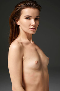 Veronika V shows off her petite body with small tits and sweet shaved pussy