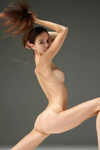 Incredibly hot and sweet doll Leona displays her flawless slender body