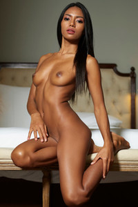 Dark haired chick Chloe dazzles us with her nubile body and super smooth and fair skin